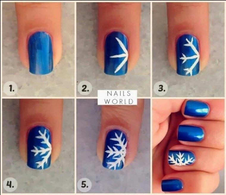 Nail art Flocon de neige !