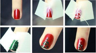 Nail art pour Noël