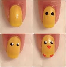 Nail art Poussin