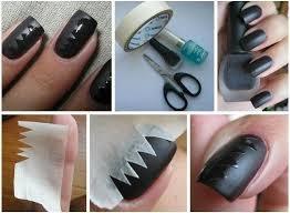 Nail art semi matte