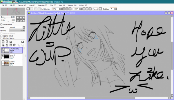 Wip of my part for the private collab' with Sunnya.