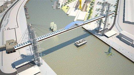 Projet de pont transbordeur à Nantes