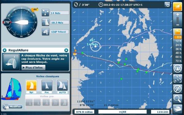 Virtualregatta - Clipper Round The World 11-12 - Classement 7ème étape
