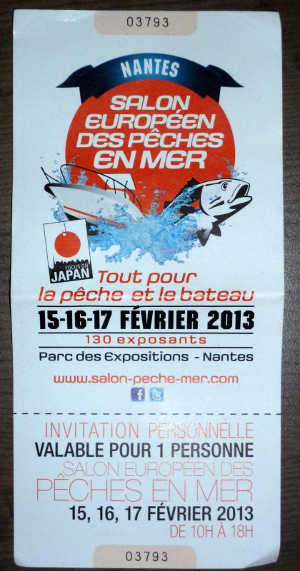 Ticket salon PEM Nantes 2013
