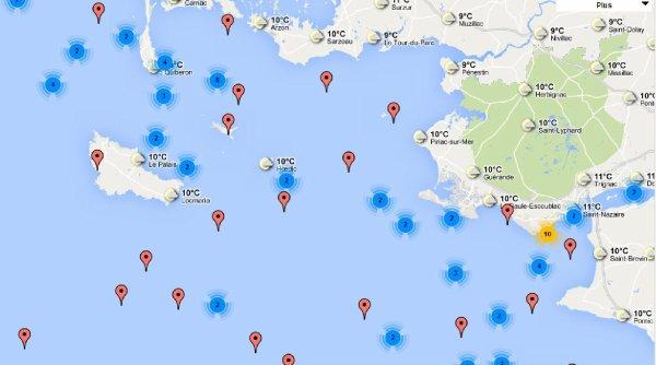 Epaves de France Carte interactive