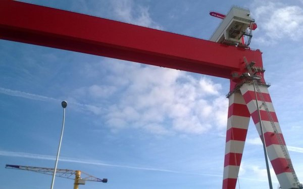 Nouveau portique des chantiers de St Nazaire