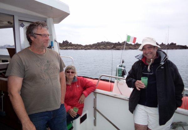 Pëche aux bars, vielles, lieus à 3 bateaux 4/6/2016
