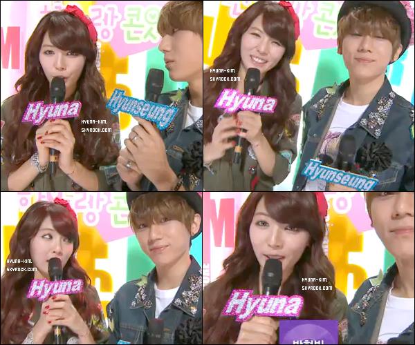 Hyuna et Hyunseung présentait les Music Core