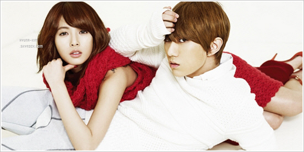 Photoshoot des Trouble Maker pour High Cut