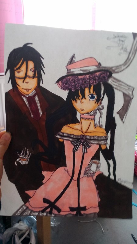 My Drawing De Ciel Girl Version And Sebastian Michaëlis. ❤