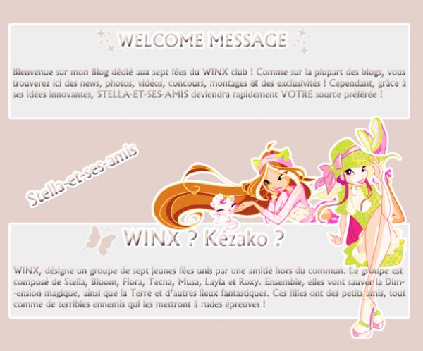{ Article 01 } :: ~Bienvenue sur Stella-et-ses-amis ; Ta source Stellesque favorite sur les WINX~