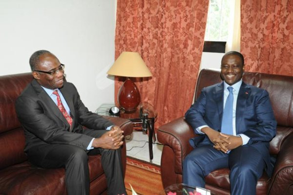 Mission du Conseil de Securité de l'ONU en CI : Le PAN Guillaume Soro échange avec le Représentant spécial adjoint M. Akodjénou