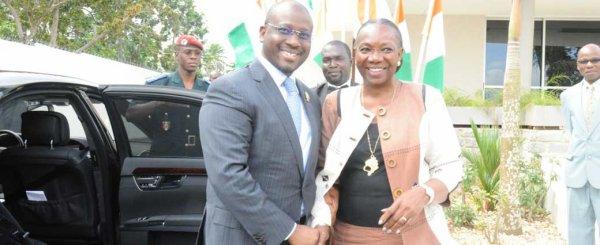 Activités du PAN : le Chef du Parlement ivoirien en visite de courtoisie chez la Grande Chancelière