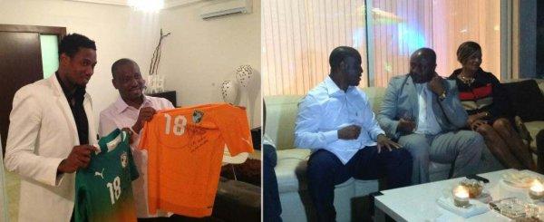 Soro offre un dîner à Abédi Pelé : les Gloires africaines de football célébrées