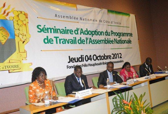 Séminaire d'Adoption du Programme de Travail de l'Assemblée Nationale : Guillaume Kigbafori SORO explique le sens du PTAN