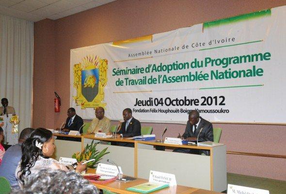 Assemblée nationale : le PAN Guillaume Soro a validé le Programme de Travail de l'Assemblée nationale (PTAN 2012).