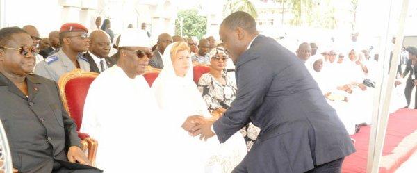Nécrologie : Le PAN Guillaume Kigbafori Soro assiste aux obsèques du frère aîné du Chef de l'Etat