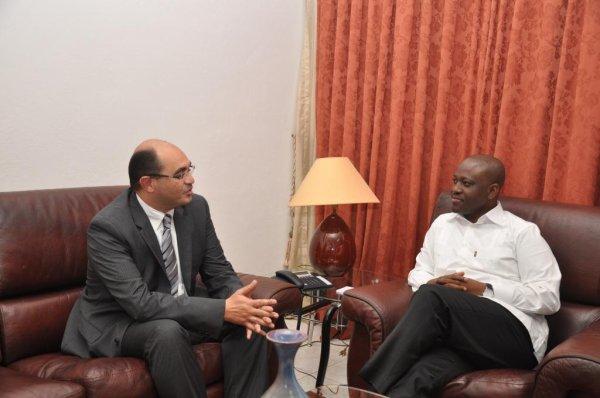 Investissements en Côte d'Ivoire : Le Groupe ADDOHA Maroc informe le PAN Guillaume Soro sur l'avancement de ses projets.