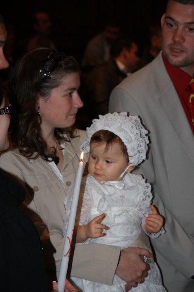 Le baptême de ma filleule