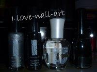 nail art noir  et argenté
