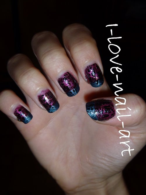 1er nail art crackle
