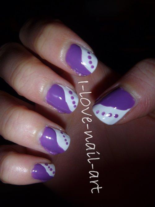 nail art violet et blanc blog de i l0ve nail art. Black Bedroom Furniture Sets. Home Design Ideas