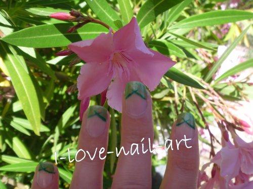 nail art vert clair et foncé