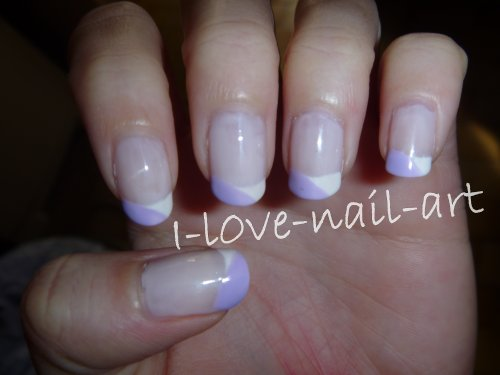 Nail art: French blanche et violette