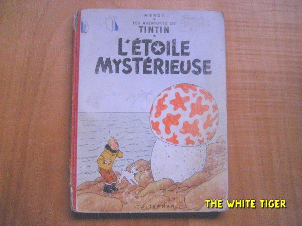 """BD de collection Tintin: """"l'étoile mystérieuse"""" B9 1954 Hergé A saisir !!!"""