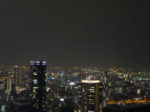 Diner + vue nocturne d'Osaka, le 17/11