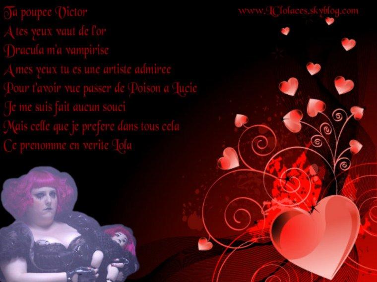 L'amour plus fort que la mort avec la poupée Victor