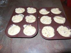 Muffins aux noix et pommes caramélisées