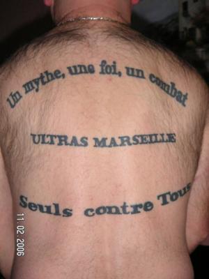 Serie De Tatouages Ultra Marseille Ultra Massilia