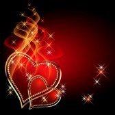 manifique ses petits coeurs rouge d amour...