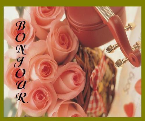 je vous offrent ce joli bouquet de roses ... pour vous mes amis..