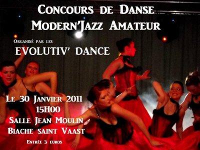 Concours de danse Modern Jazz amateur le Dimanche 30 Janvier 2011
