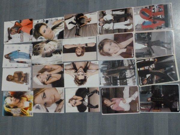Voici mes cartes postales, et mes fiches chansons !
