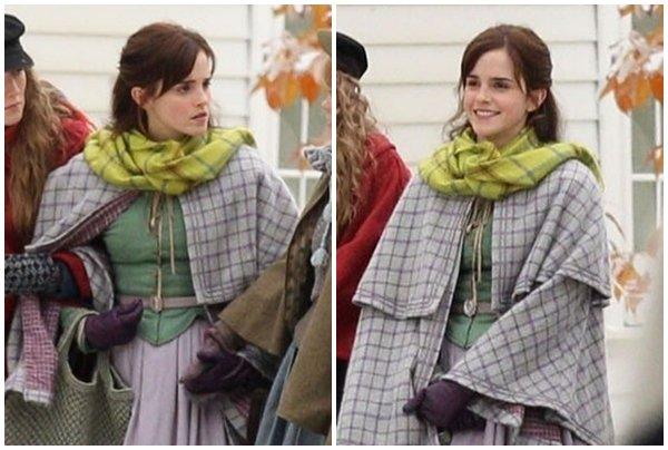 Le 5 novembre Emma à était aperçu sur le tournage de son nouveau film Little Women à Harvard.