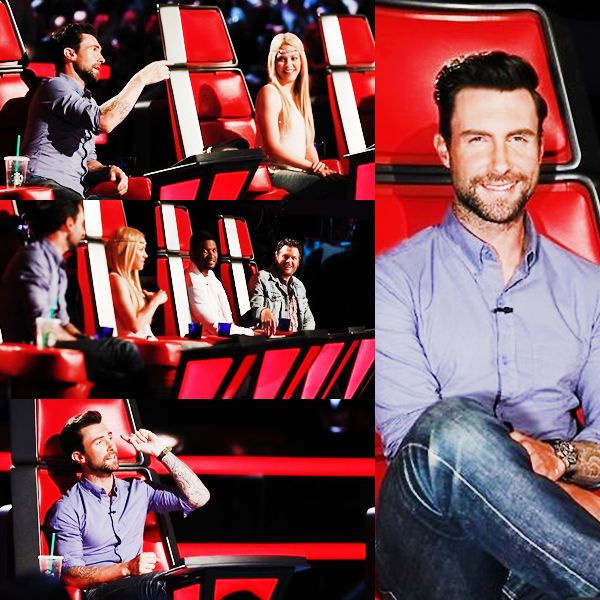 APPARENCES | 10 Juin : Adam sur le plateau de The Voice USA.