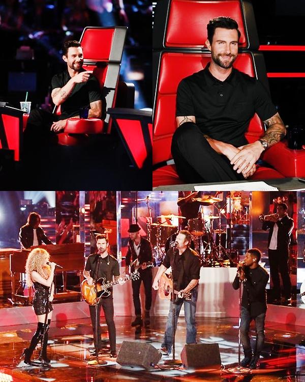 APPARENCES   17 Juin : Adam sur le plateau de The Voice USA.