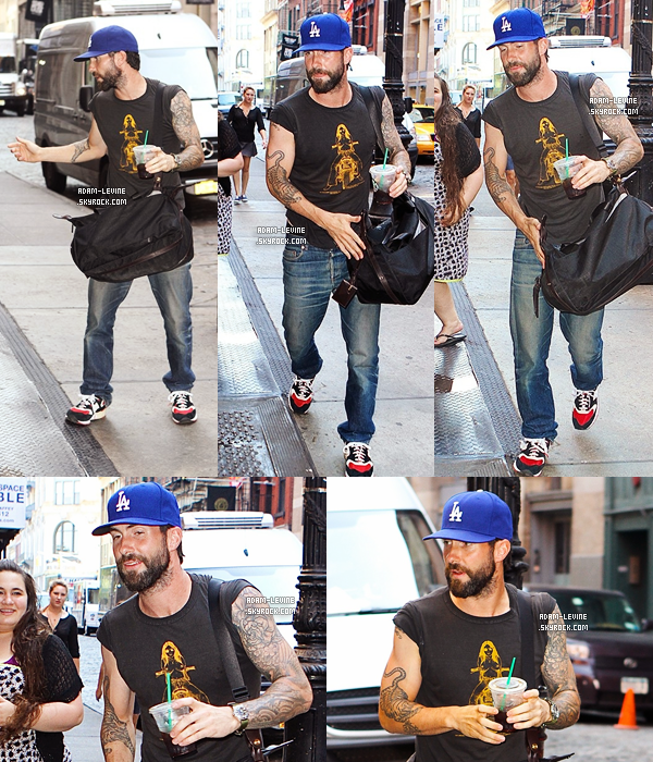 Candids | 18.07 : Adam a été repéré à New York + Photo promotionnelle The Voice
