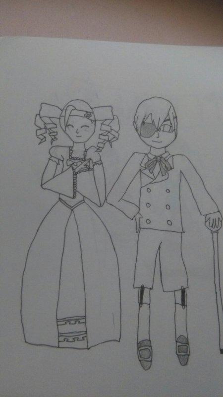 Dessin 3: Ciel et Lizzy