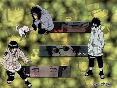 Kiba,Hinata et Shino