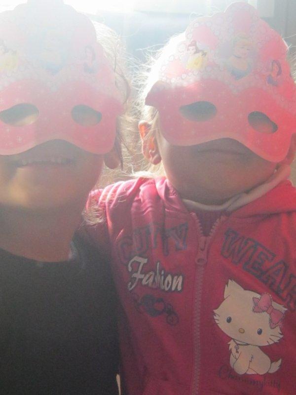 moi et ma couz nana de maske de precesse