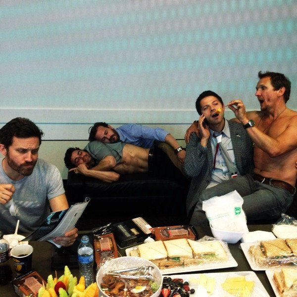 Misha Collins And Team Supernatural