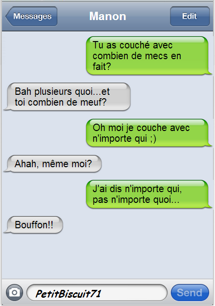 Ptite discussion SMS: