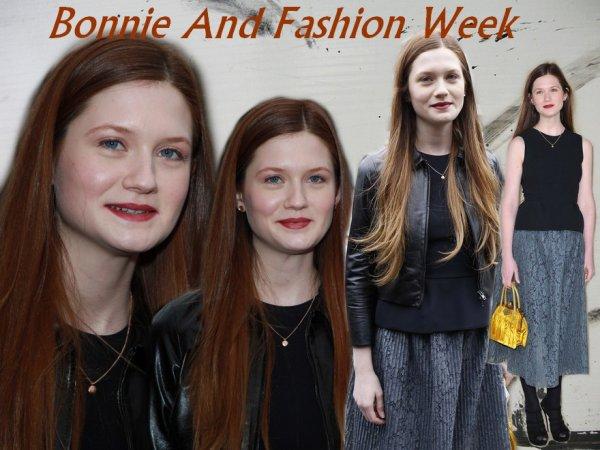 Bonnie a Paris et aux Jameson Empire Awards 2012 avec Evanna ainsi qu'au Studio Leavesden qui sont officiellement ouvert!