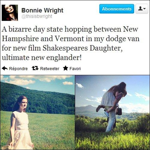 Tweet de Bonnie, nouveau projet, tournage et une vidéo de Diesel! Jamie et Bonnie c'est fini! Evanna de sortie pour Sinbad.