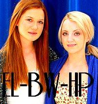 Evanna Lynch et Bonnie Wright