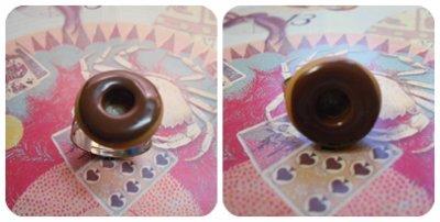Bague donut's chocolat